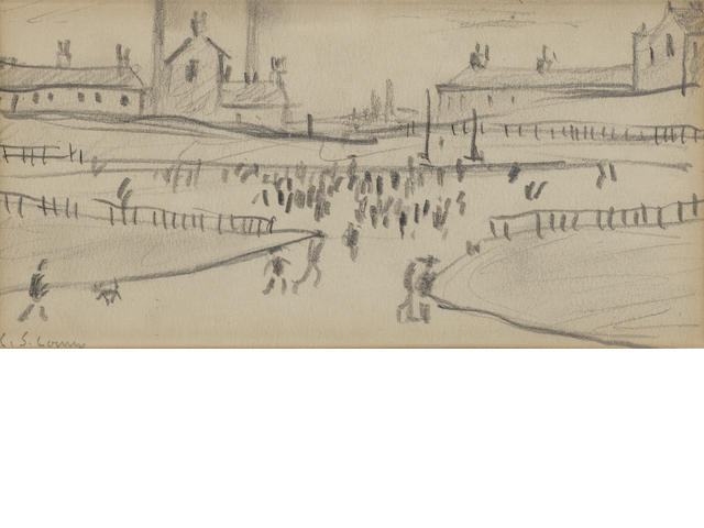 Laurence Stephen Lowry R.A. (British, 1887-1976) Industrial Landscape, signed, pencil, 13 x 24cm.