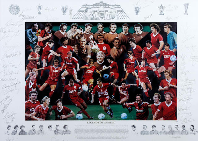 'Legends of Anfield' limited edition hand signed print