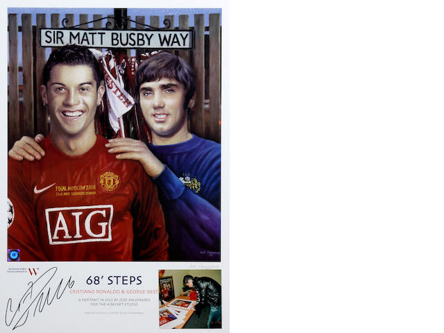 '68 Steps' lithograph hand signed by Ronaldo