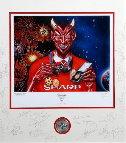'Abracadabra' Manchester United hand signed lithograph
