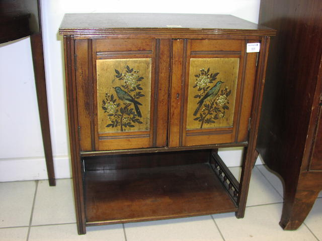 A small Aesthetic Period mahogany cabinet