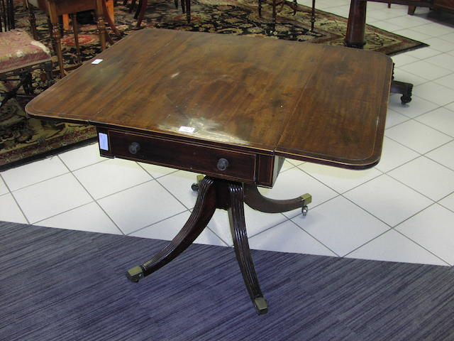 A late George III mahogany Pembroke table