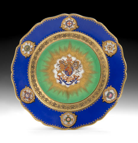 English porcelain royal specimen plate for William IV (to be researched)