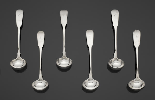 A Scottish silver Fiddle pattern table service of flatware Glasgow