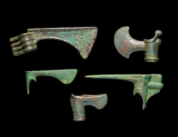 Five Luristan bronze axeheads 5