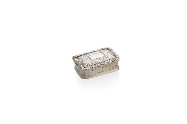A George IV silver rectangular vinaigrette by Nathaniel Mills, Birmingham 1829