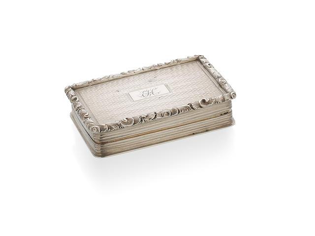 A Victorian silver rectangular vinaigrette by Nathaniel Mills, Birmingham 1839
