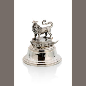 A George IV silver paper weight by Paul Stonn, London 1824