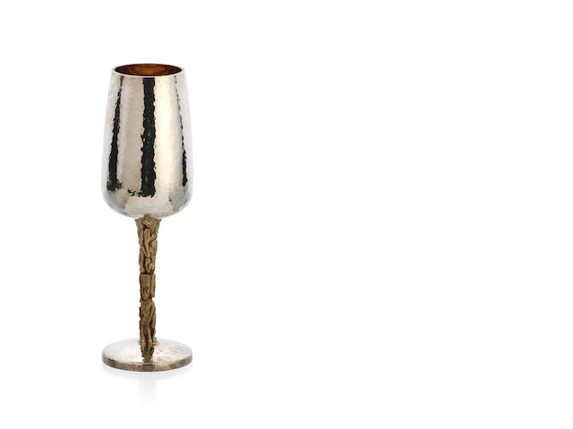 An Australian silver and gilt goblet by Stuart Devlin, London 1975