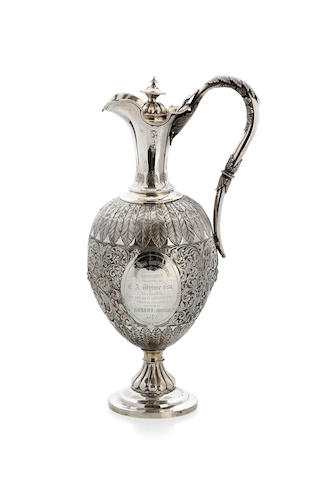 An Australian silver claret jug,
