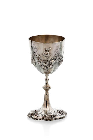 An Australian silver goblet by William Edwards, Melbourne, circa 1870