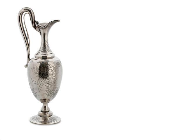 An Australian silver claret jug by Kilpatrick & CO, Melbourne, circa 1880