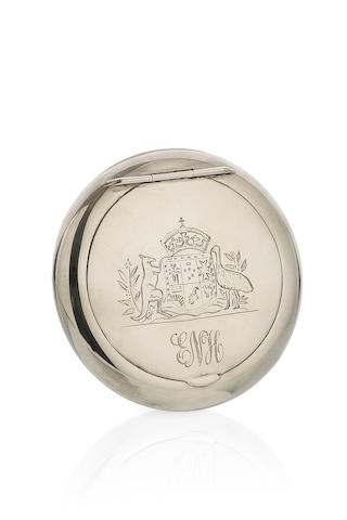 An Australian Parliament House Commemorative silver box by W.J. Coote, Sydney, circa 1927