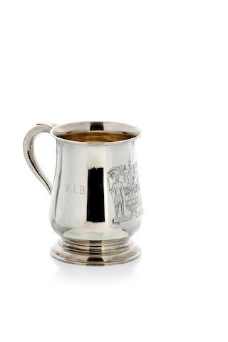 An Australian silver baluster mug by Hardy Brothers Sydney, circa 1900