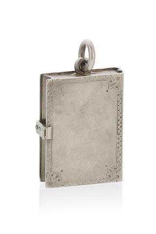 An Australian silver 'book' locket by Henry Steiner, Adelaide, circa 1880