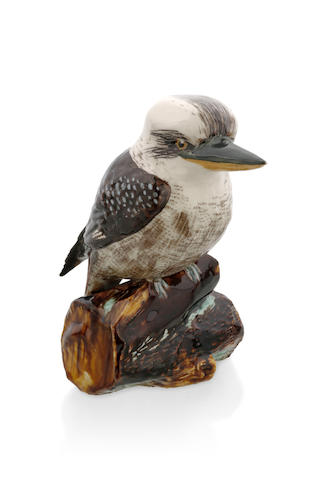 A kookaburra perched on a branch by Grace Seccombe (c. 1880 - 1956)