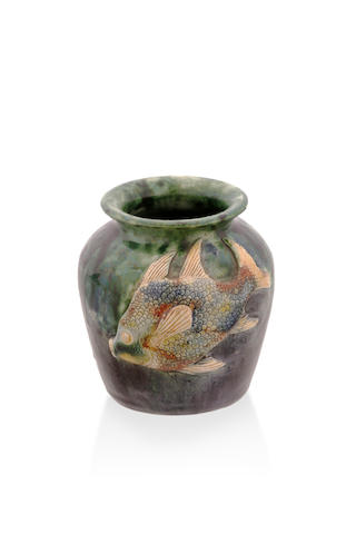 A fish vase by John Castle-Harris, circa 1940