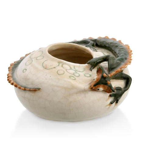 A lizard bowl by Marguerite Mahood (1901-1989)