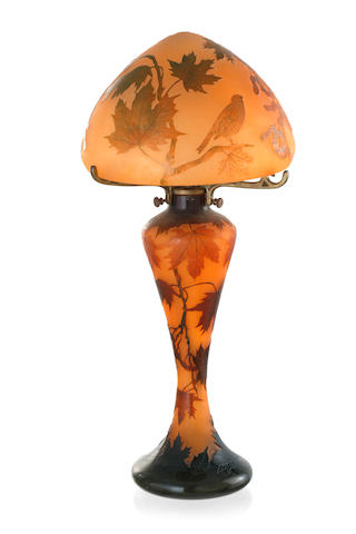 A La Rochere Cameo Glass Lamp