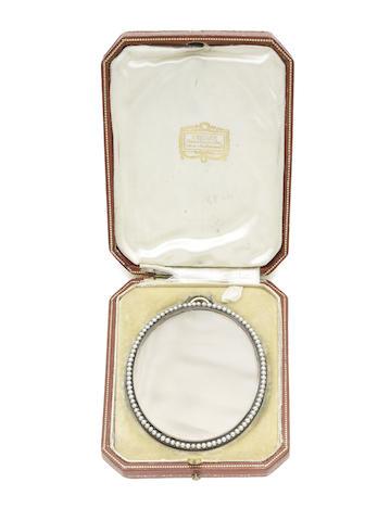 A seed pearl frame