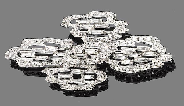 A diamond brooch, by Durant