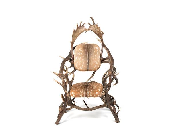 An impressive antler armchair