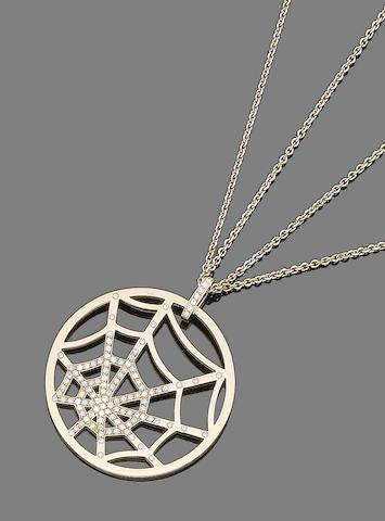 A diamond-set pendant necklace, by Chaumet