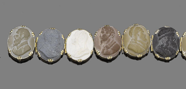 A lava cameo bracelet