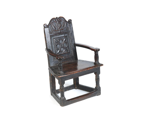A small 17th century caqueteuse chair