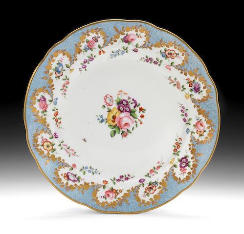 A fine Nantgarw plate, circa 1818-20
