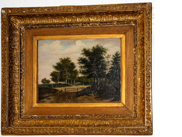 18th Century School Landscape with trees