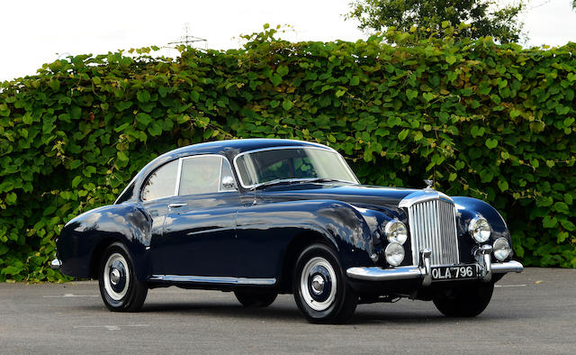 First owned by Stavros Niarchos; one owner since 1971,1953 Bentley R-Type Continental Sports Saloon  Chassis no. BC7C Engine no. BCC7