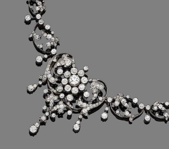 A diamond necklace/brooch/pendant,