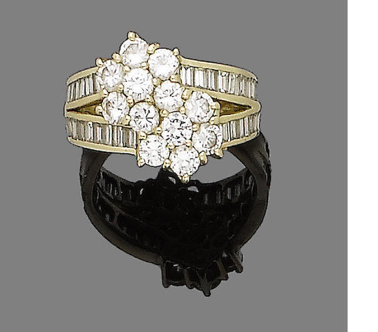 A diamond dress ring, by David Morris