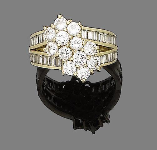 A diamond dress ring, by David Morris