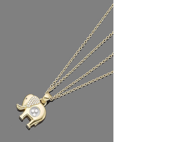 "A ""Happy diamond"" pendant necklace, by Chopard"