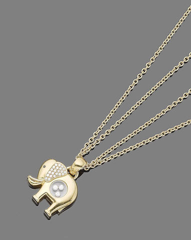 """A """"Happy diamond"""" pendant necklace, by Chopard"""
