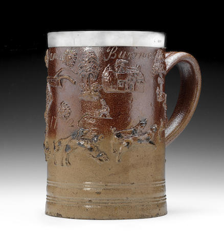 A London stoneware tavern mug, dated 1726