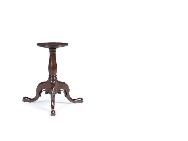 A George III Irish mahogany kettle stand