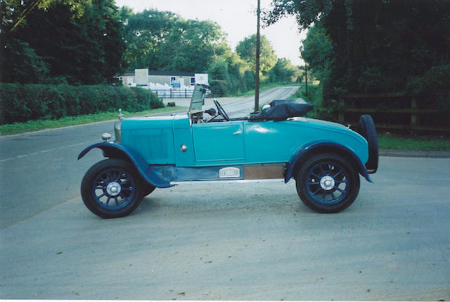 1925 Singer 10/26hp Roadster  Chassis no. 159 Engine no. 55730B