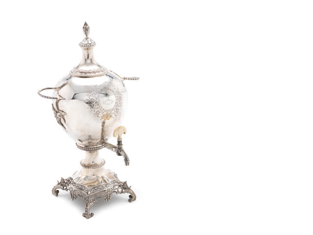 A George lll silver urn on stand London 1759