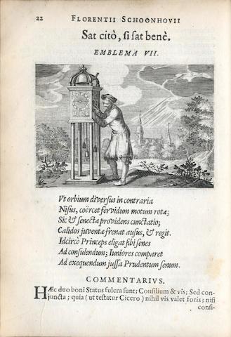 SCHOONHOVIUS (FLORENTIUS) Emblemata... partim moralia, partim etiam civilia, 1618, bound with Burgundia, 1639