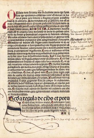 SALICETO (GUILLEMUS DE) De salute corporis. Daran: Johannes de Turrecremata: Tractatus de salute animae, Leipzig, 1495