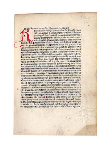 ROSENHAYM (PETRUS DE) Roseum memoriale divinorum eloquiorum, 1499