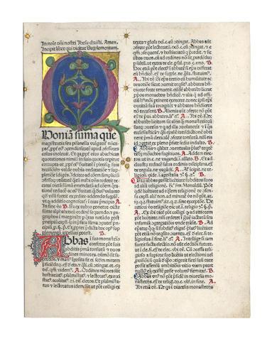 NICOLAUS DE AUSMO Supplementum Summae Pisanellae et Canones poenitentiales fratris Astensis, 1476