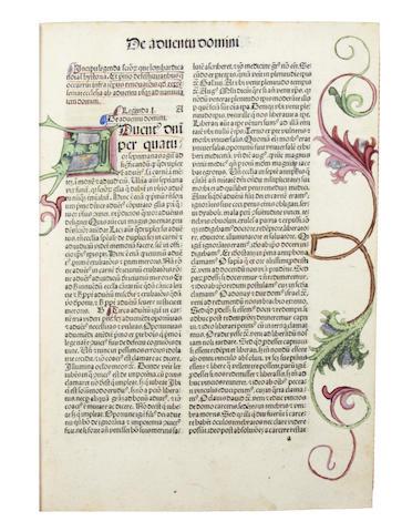 VORAGINE (JACOBUS DE) Legenda aurea sanctorum, sive Lombardica historia, Strassburg, 1490