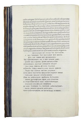 POLITIANUS (ANGELUS) Miscellaneorum centuria prima, Florence, 1489