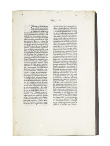 NICOLAUS de Lyra. Postilla super Epistolas Pauli, Mantua, 1478