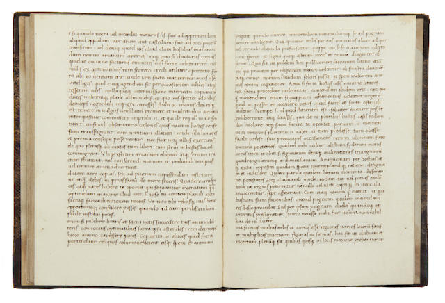 ONOSANDER. Libro de optimo imperatore [dedicated to Quintus Verannus, translated from the Greek into Latin by Nicolaus Sagundino], manuscript on paper, [c.1490-1500]