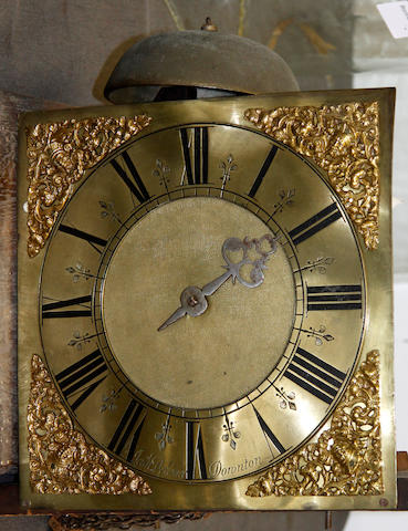 A 30 hour movement from a long case clock signed Delance, Downton